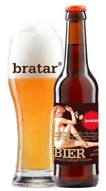 """Bratar """"handcrafted Weizen"""" im 0,33l Weizenglas"""