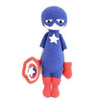 lalylala captain america soft toys amigurumi