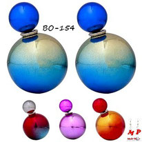 Boucles d'oreilles double perles bicolores 4 couleurs