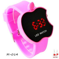 Montre led pomme rose apple