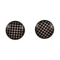 Boucles d'oreilles logos échiquiers