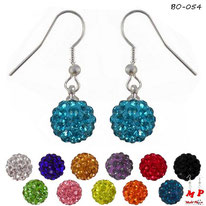 Boucles d'oreilles pendantes shamballa 20 couleurs