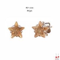 Boucles d'oreilles étoiles citrines 8mm