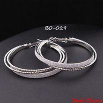 Boucles d'oreilles triple anneaux colés dorés