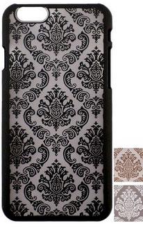 Coque iPhone 6/6s rigide motifs baroques noirs, blancs ou dorés