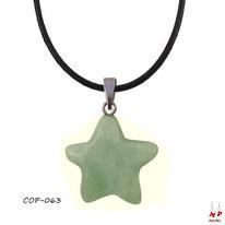 Collier à pendentif étoile en pierre d'aventurine verte