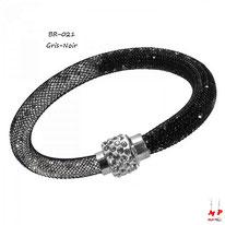 Bracelet stardust noir et blanc à strass