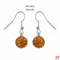 Boucles d'oreilles pendantes shamballa citrouilles