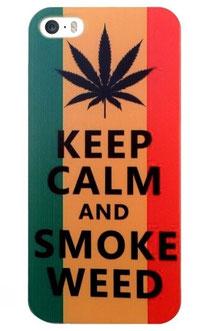 Coque iphone 5/5s rasta avec sa feuille de cannabis