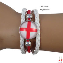 Bracelet drapeau de l'Angleterre en similicuir
