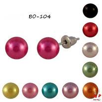 Boucles d'oreilles perles nacrées 7mm 10 couleurs
