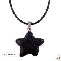 Collier à pendentif étoile en pierre de blue sandstone