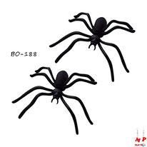 Boucles d'oreilles araignées 3D noires