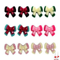 Boucles d'oreilles flots en acrylique 6 couleurs
