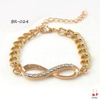 Bracelet infini doré et strass