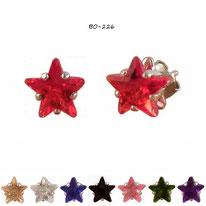 Boucles d'oreilles étoiles en strass 8 couleurs