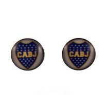 Boucles d'oreilles logos équipe de foot Boca Juniors
