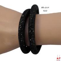 Bracelet double stardust noir