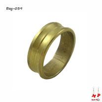 Bague anneau doré homme en acier inoxydable