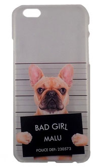 Coque pour iPhone 6/6s bouledogue Bad Girl