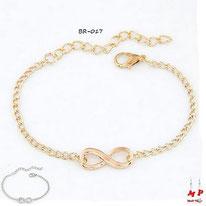 Bracelets infini doré ou argenté