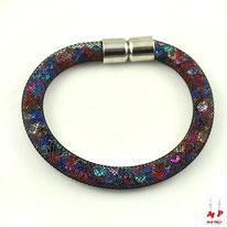 Bracelet stardust nylon et strass multi couleurs