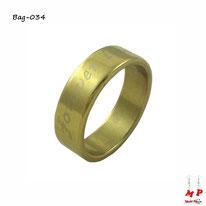 Bague anneau doré forever love en acier inoxydable