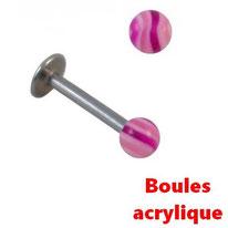 Piercing labret boule acrylique