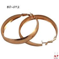 Boucles d'oreilles anneaux dorés larges
