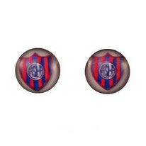 Boucles d'oreilles acier logo ASL de A Club Atlético San Lorenzo de Almagro