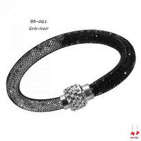 Bracelet stardust noir et gros avec strass