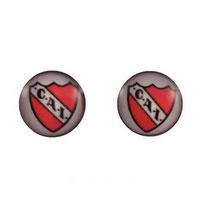 Boucles d'oreilles puces rondes logo Club Atlético Independiante