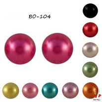 Boucles d'oreilles perles nacrées 7mm disponibles en 10 couleurs