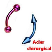 Piercing arcade en acier chirurgical
