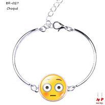 Bracelet emoji émoticône choqué