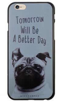 Coque iPhone 6/6s carlin et message demain sera un jour meilleur