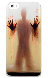 Coque iPhone 5c horreur ombre aux mains pleines de sang