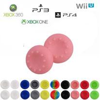 Paires de grips de protections en silicone pour joystick PS4, PS3, Xbox et Nintendo 10 couleurs