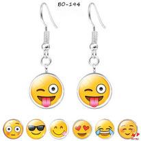 Boucles d'oreilles pendantes emoji 7 modèles