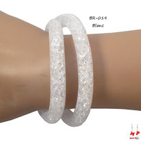 Bracelet double stardust blanc
