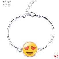Bracelet emoji émoticône love you