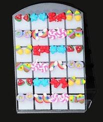 Boucles d'oreilles sucreries 8 modèles en pâte polymère