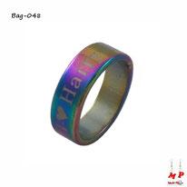 Bague anneau arc-en-ciel love harry en acier chirurgical