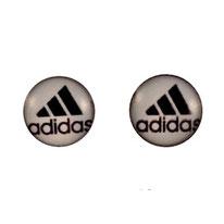 Boucles d'oreilles acier logo marque Adidas