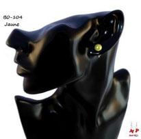 Boucles d'oreilles perles nacrées jaunes 7mm
