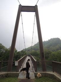 モコとぷうは初めての吊り橋だったかな?