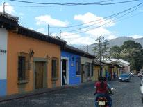 Straße in Antigua, Guatemala