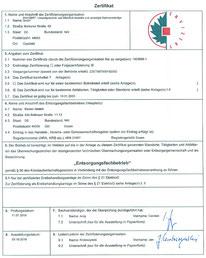 Zertifikat, Entsorgungsfachbetrieb, Erstbehandldungsanlage, ElektroG, ADR, WEEE, BImschG, zertifizierte Elektroschrott Entsorgung, Metallschrott Entsorgung, Altbatterie Entsorgung,