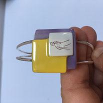 Bracelet métal et verre - 23€.  Référence : DPVJHA03A