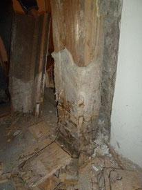 Schäden an Säulen